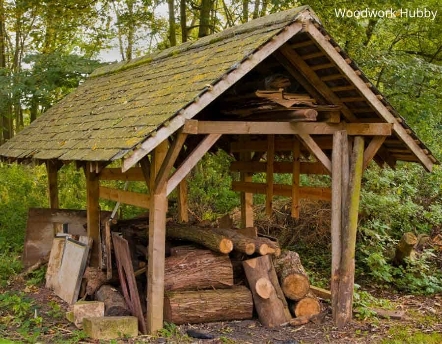 wood stored outdoors